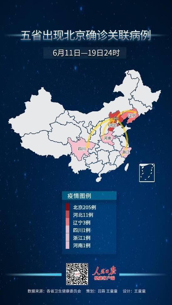 6月11日至19日24时 17例跨省病例与北京有关图片