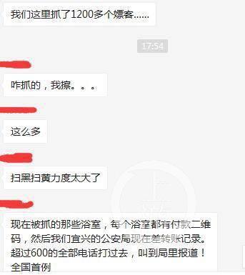 ▲热传图片显示,警方抓了1200名嫖客,但未获得当地警方证实。图片来自网络