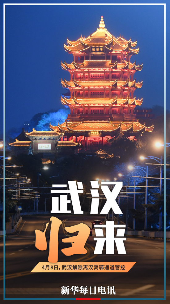 """新华每日电讯:""""封城""""76天,武汉归来!致敬英雄的人民!"""