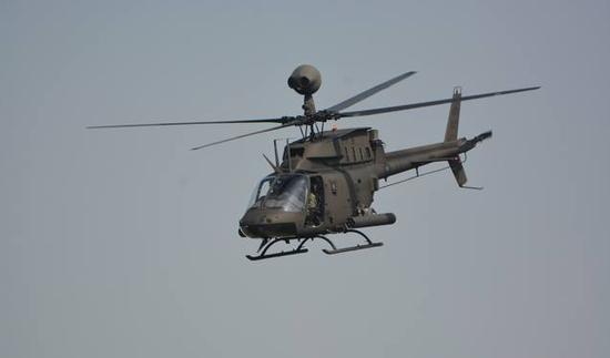 图为OH-58D战搜直升机。(来源:台媒)