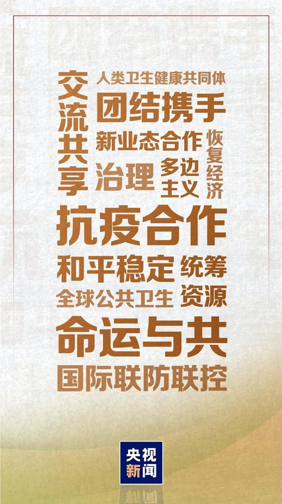 """▲2020年上半年习近平""""云外交""""中的高频词"""