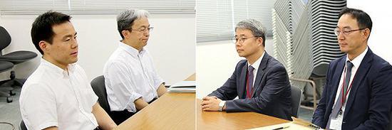 2019年7月12日,日本东京,日韩两国政府举行两国科长级实务会议。图片来源:视觉中国