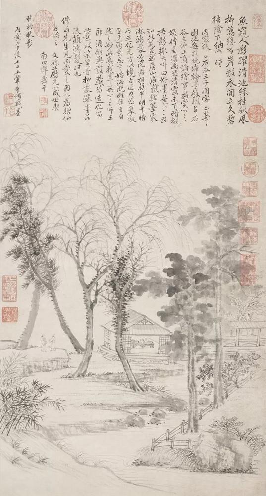 王翚 《晚梧秋影图》轴