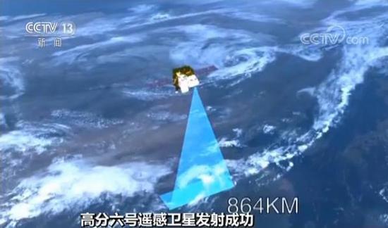 一次观测就可以看清地面上宽度达到800公里的范围