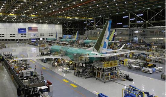 图为波音兰顿工厂,波音737系列几乎全部由该工厂生产