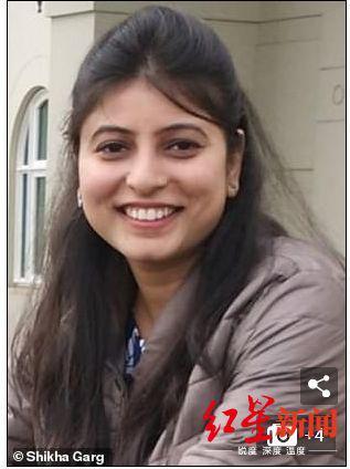 在該事故中遇難的印度新婚妻子加格 圖據《每日郵報》
