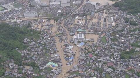 日本罕见暴雨致多地受灾 已致14死45失踪