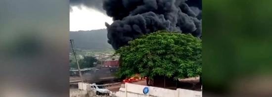 尼日利亚油罐车发生爆炸并起火,致至少28人死亡