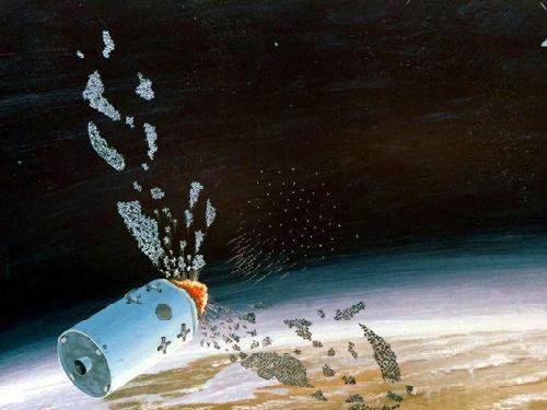 资料图片:反卫星武器想象图。