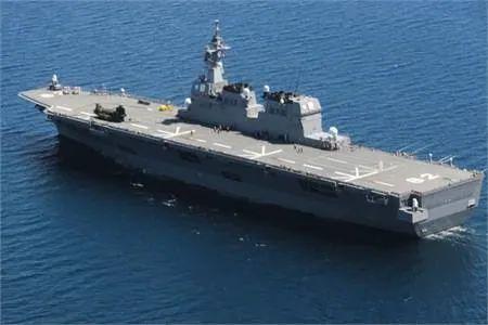 """派往南海的日本海上自卫队""""伊势""""号直升机护卫舰"""
