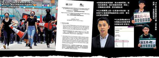 """香港""""黄师""""组织发报告抹黑 上反华电台乞美制裁图片"""