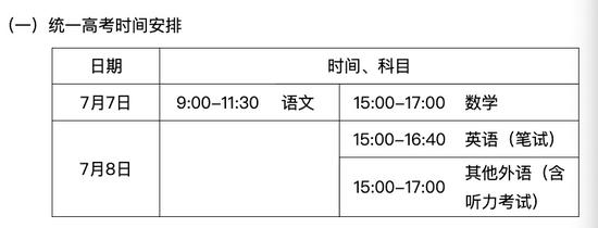【摩天平台】考试院下摩天平台发高考通知各时间节图片