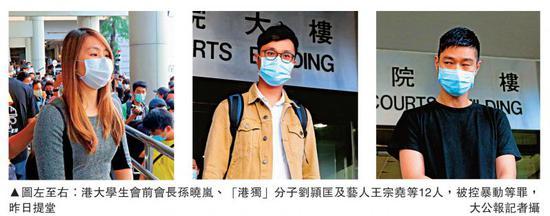 天富:击香港立法会12人加控暴天富动罪1人缺聆讯图片