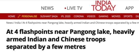 印媒:班公湖两岸热点地区 中印军队彼此间仅几米距离图片