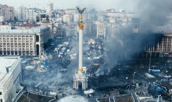 """香港示威者举行放映会播放乌克兰""""革命""""纪录片"""