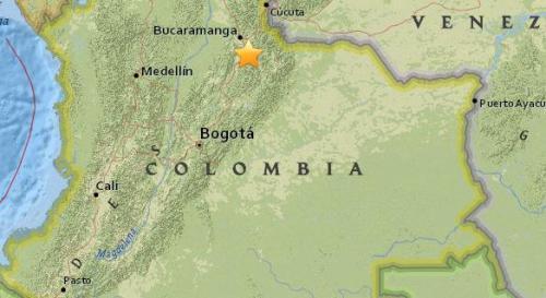 哥伦比亚北部发生5.2级地震 震源深度152.4公里