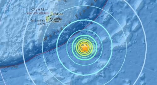 美国关岛东南部发生6.4级地震 震源深度10公里