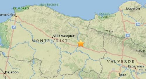 多米尼加北部发生5.2级地震 震源深度14公里