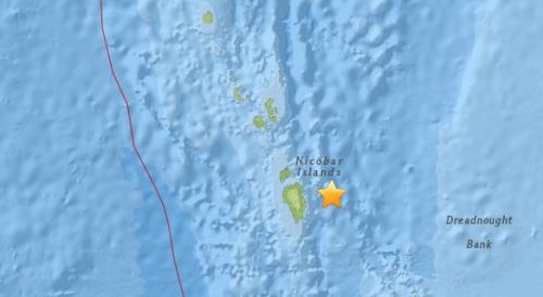 印度东南部海域发生5.1级地震 震源深度85.7公里