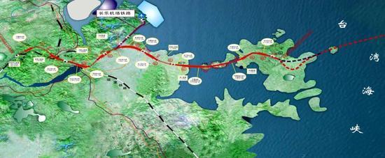 △福(州)平(潭)铁路线平面图