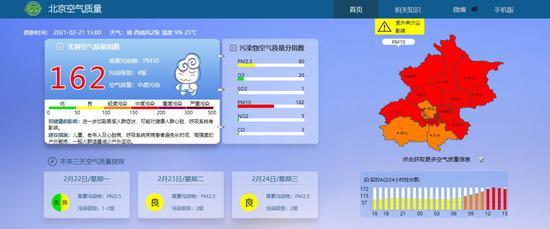 北京空气质量已达中度污染 首要污染物为PM10图片