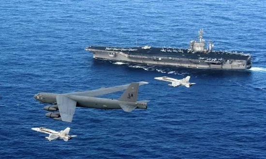 """▲美国曾提出""""空海一体战""""战略以应对中国不断增强的反介入能力。"""