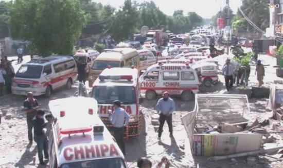 巴基斯坦卡拉奇爆炸致3死15伤 拆弹小组已出动