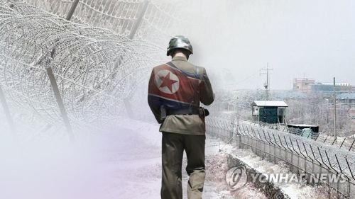 """韩国联合参谋本部:一名朝鲜军人""""脱北""""(图片来源:韩联社TV)"""
