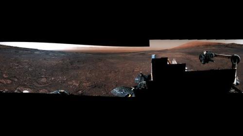 这段视频是由火星车在12月19日拍摄的全景照片合成的。(图片来源:NASA)
