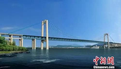 图为五峰山长江特大桥效果图。 图片来源:中新网