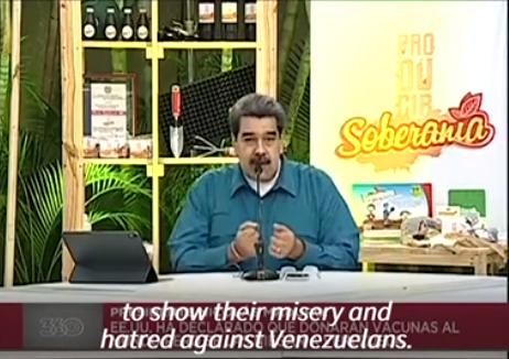 马杜罗批评美国未将委内瑞拉列入疫苗捐赠国:可悲