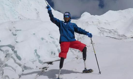 中国登山者夏伯渝.图片来源:劳伦斯世界体育奖官方网站截图