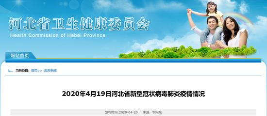 4月19日河北省无新增报告新型冠状病毒肺炎确诊病例图片