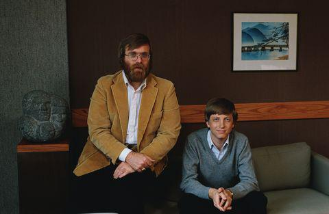 比爾·蓋茨(右)和保羅·艾倫(左)早年創業時的合影