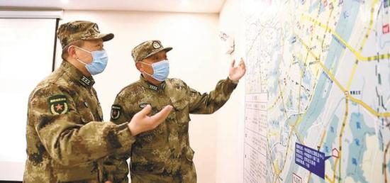 △驻鄂军队抗击疫情运力增援队进步批示所