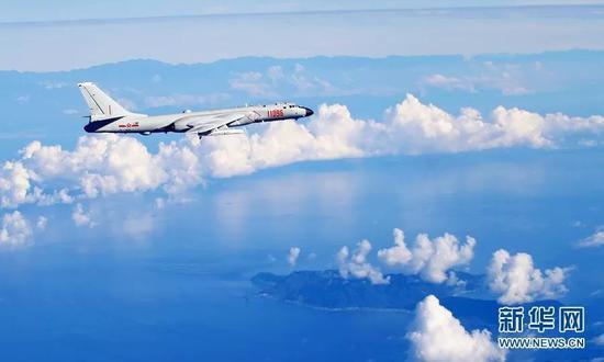 ▲资料图片:中国空军战机海上训练。