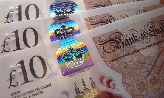 ▲德拉魯公司生產的新版10元英鎊  圖據英國《衛報》