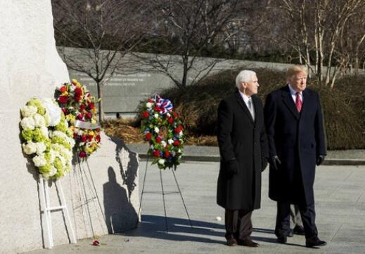 美国总统特朗普和副总统彭斯(图源:Getty)