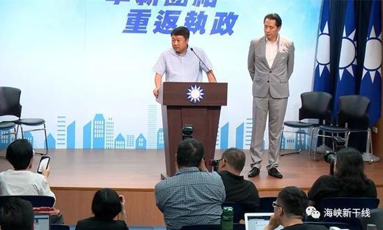 圖中 國民黨組發會主委李哲華、發言人歐陽龍