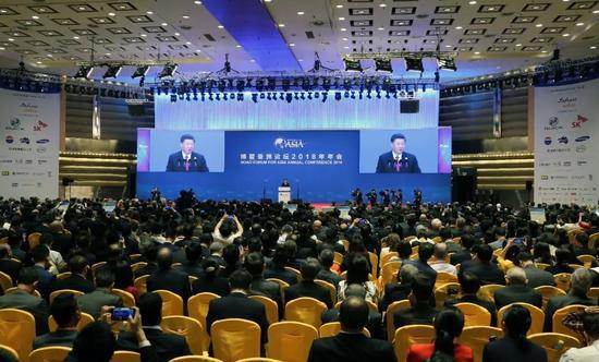 博鳌亚洲论坛2018年年会开幕式现场 任海霞 摄
