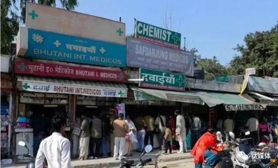 印度街頭的藥店
