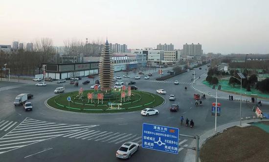 雄安新区容城县县城街道。摄影/本刊记者 董洁旭