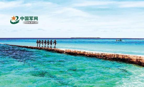 ▲水警区官兵在巡逻途中(中国军网)