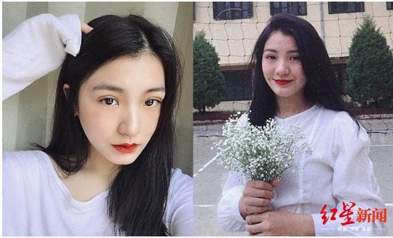 献花的越南女学生引起关注。图据《越南快报》