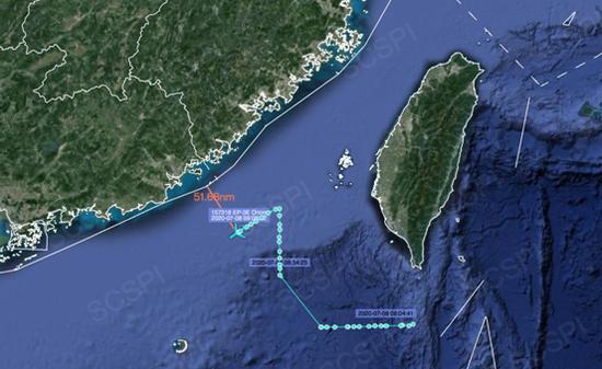 对中国抵近侦察这次距广东海岸杏悦不到100,杏悦图片