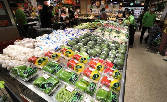 家连锁超市蔬菜设定摩天登录价格,摩天登录图片