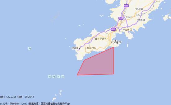 辽宁海事局公布的禁航范围