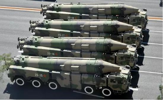 ▲东风-21D反舰弹道导弹