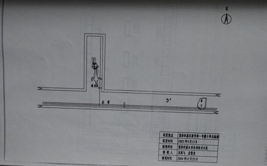 ?发现张丽丽尸体地点的平面图