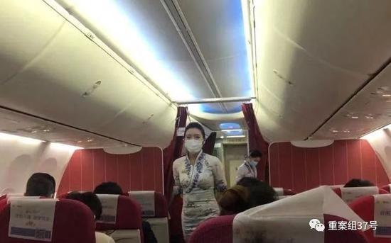 ▲佩戴口罩的海航乘务员。海南航空供图